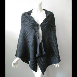 Free People Knit w/ Crochet Back Shawl